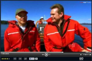 Dr. Jett in the Haro Strait with 60 Minutes Australia